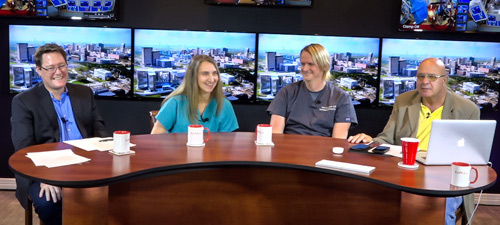 Perfusion education studio broadcast